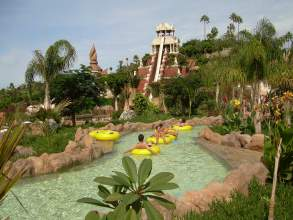 Blick zum Tower of Power Siam Park