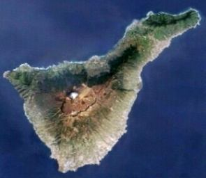 Satellitenbild von Teneriffa-Vegetation